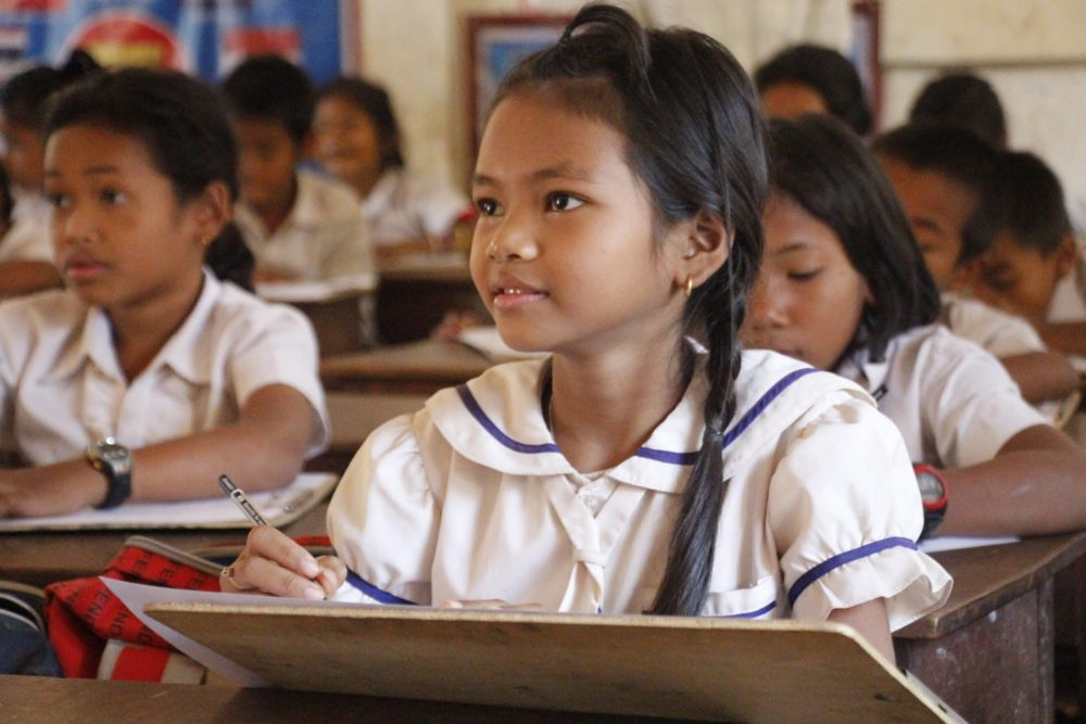 Cambodian girl in the class room